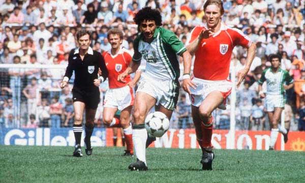 Djamel Zidane en Argelia Austria 1982