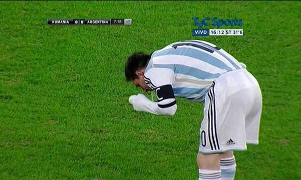 Messi vomito rumania