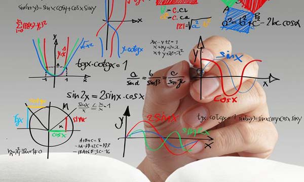 maths and science formula on whiteboard