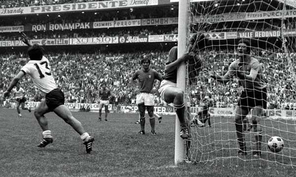 El alargue con más goles de la historia Italia 4 Alemania Federal 3, 1970