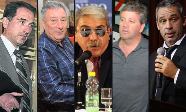 Marón, Segura, Anibal Fernández, Julito Grondona, Raffaini
